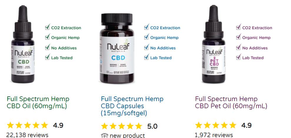 Nuleaf Naturals 60 mg oil bottle